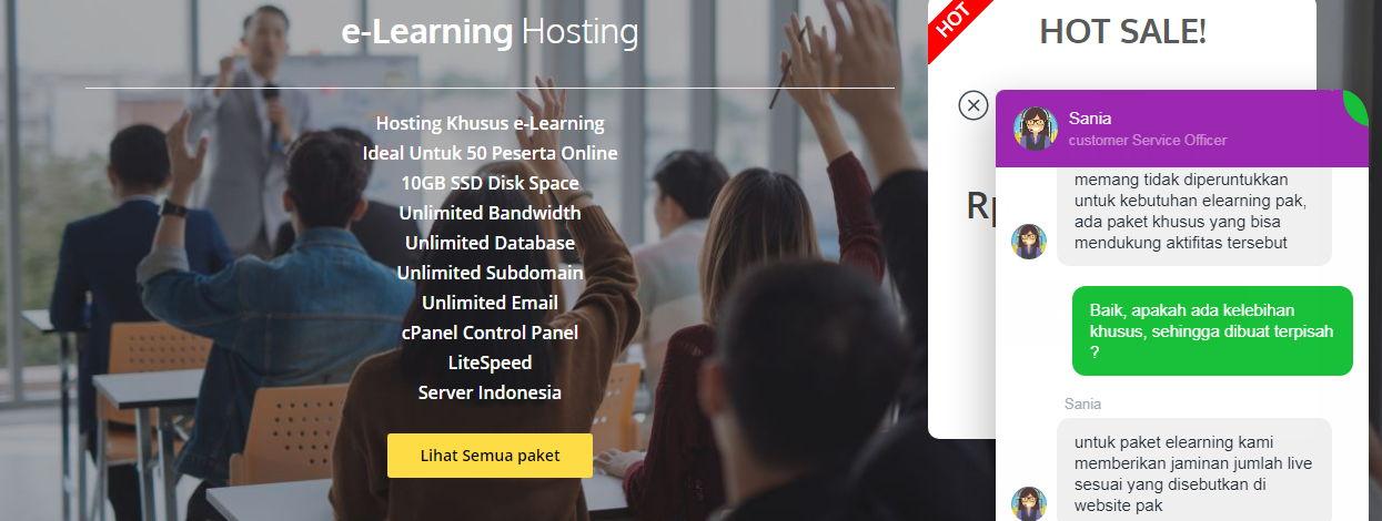 Hoster Hosting Khusus E-Learning