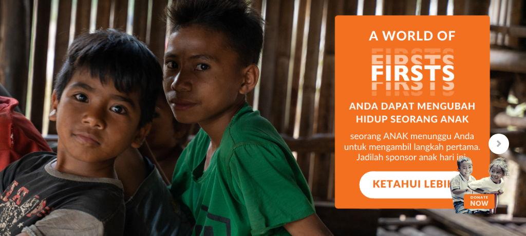 Wujudkan Momen Pertama Anak Indonesia Bersama WVI World First