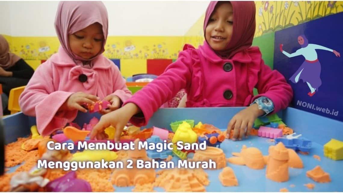Cara Membuat Magic Sand Menggunakan 2 Bahan Murah
